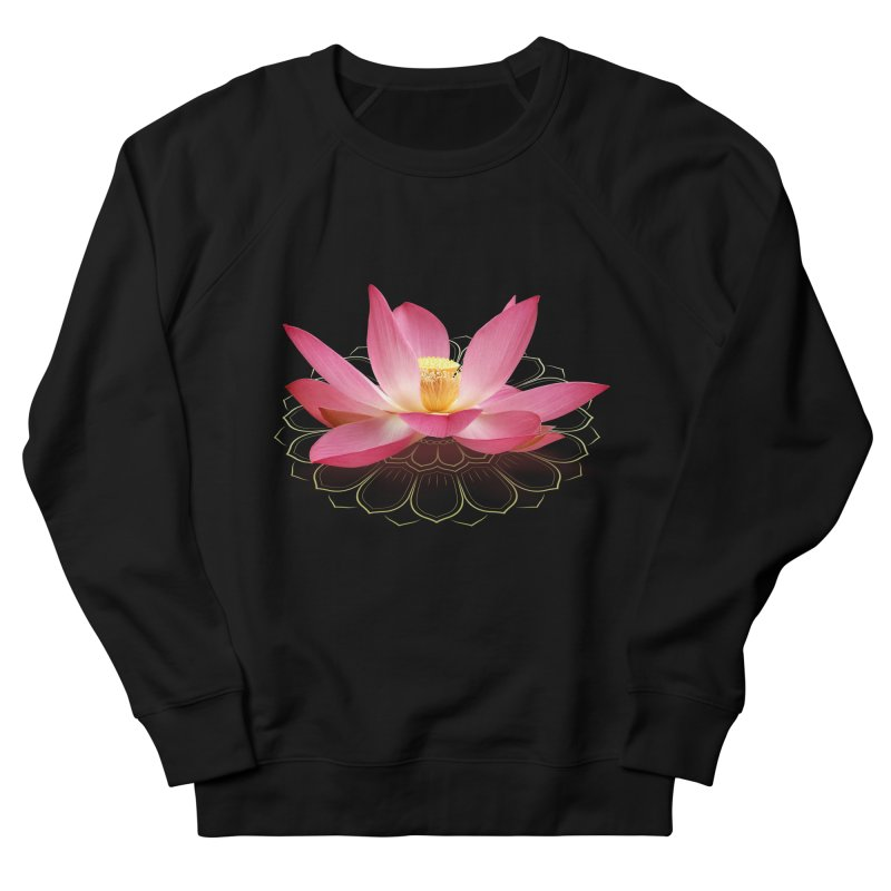 Lotus Men's French Terry Sweatshirt by elvisbr's Artist Shop