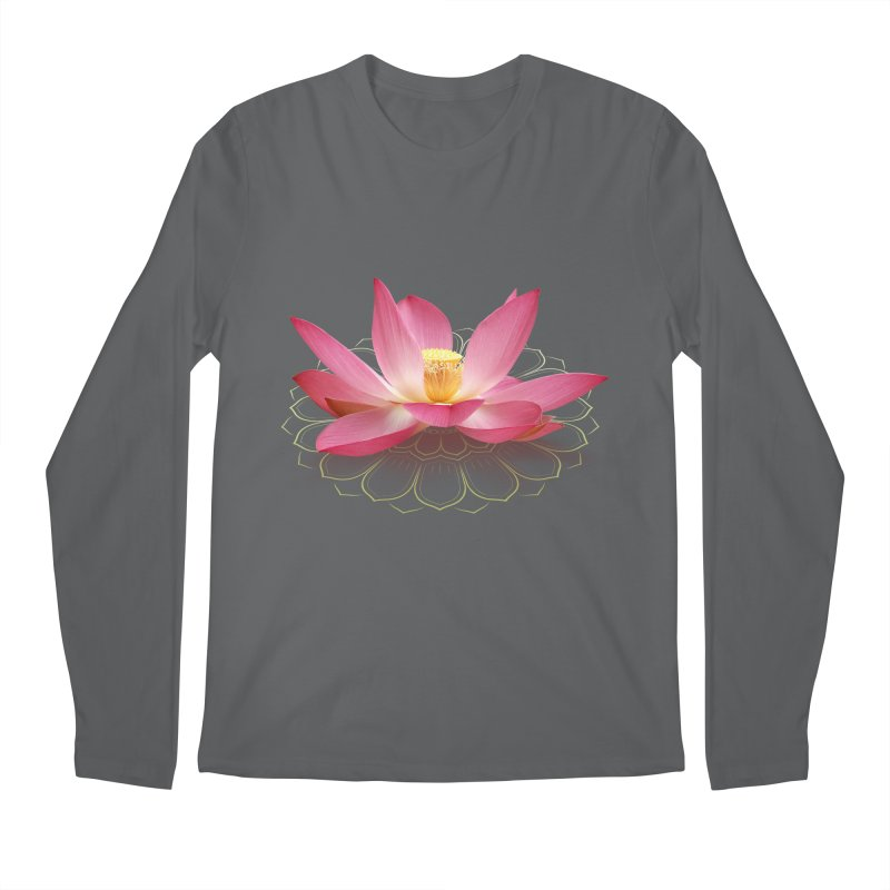 Lotus Men's Regular Longsleeve T-Shirt by elvisbr's Artist Shop
