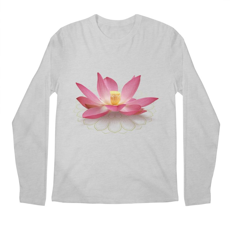Lotus Men's Regular Longsleeve T-Shirt by elvisbr's Artist Shop