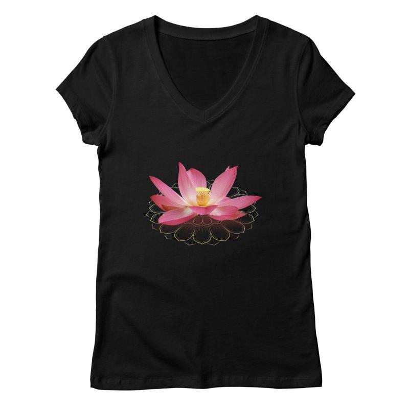 Lotus Women's Regular V-Neck by elvisbr's Artist Shop