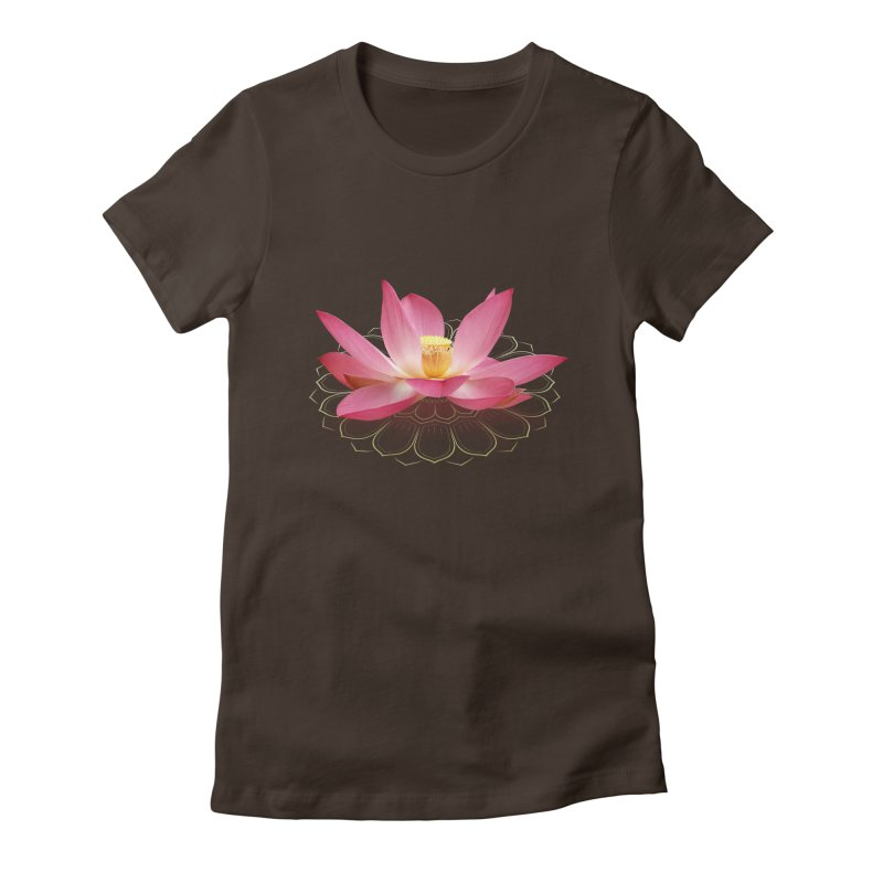 Lotus Women's Fitted T-Shirt by elvisbr's Artist Shop
