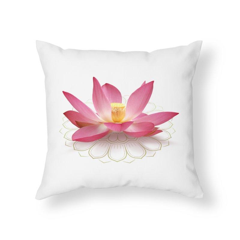 Lotus Home Throw Pillow by elvisbr's Artist Shop