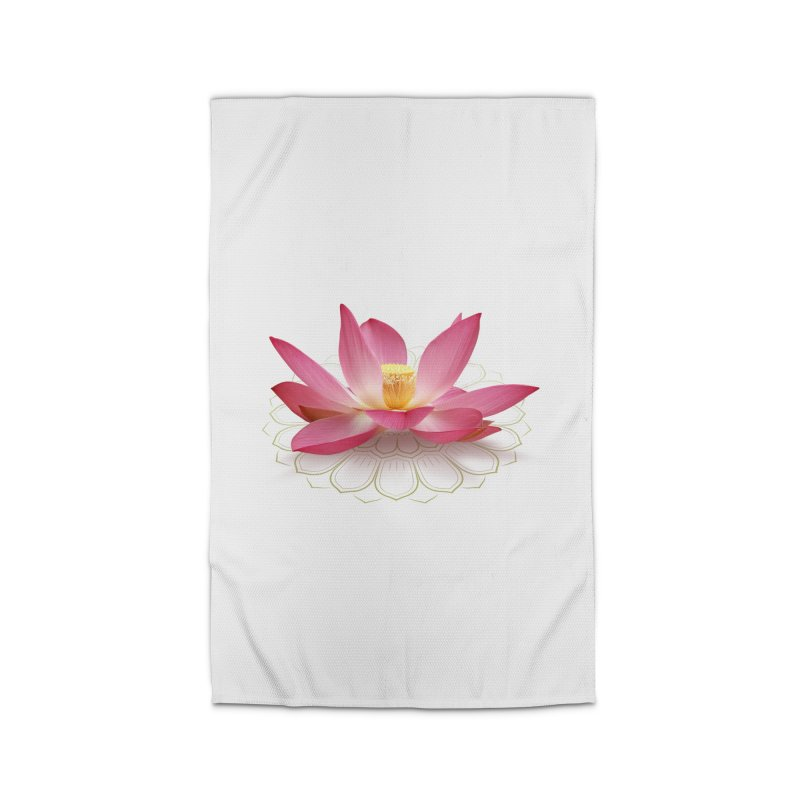 Lotus Home Rug by elvisbr's Artist Shop