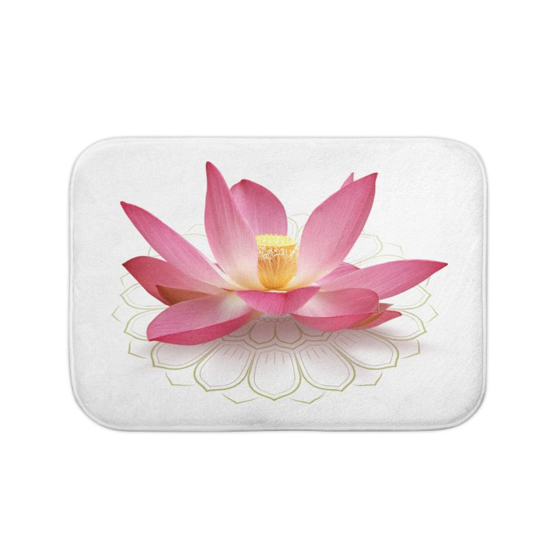 Lotus Home Bath Mat by elvisbr's Artist Shop