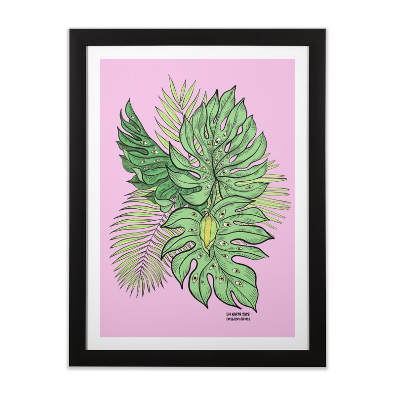 Plant Friends Home Framed Fine Art Print by EM16'S STORE