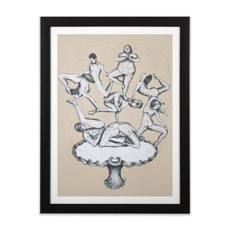 Fountain of My Youth Home Framed Fine Art Print by EM16'S STORE