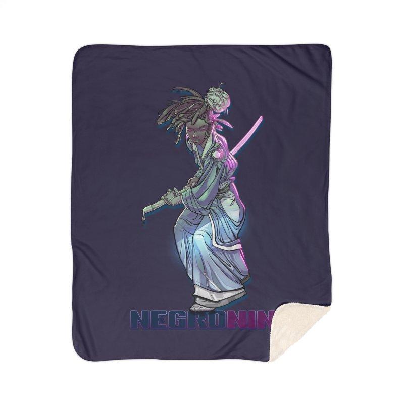 EmancipationArt's NEGROnin Home Sherpa Blanket Blanket by EmancipationArt's Threadless Shop