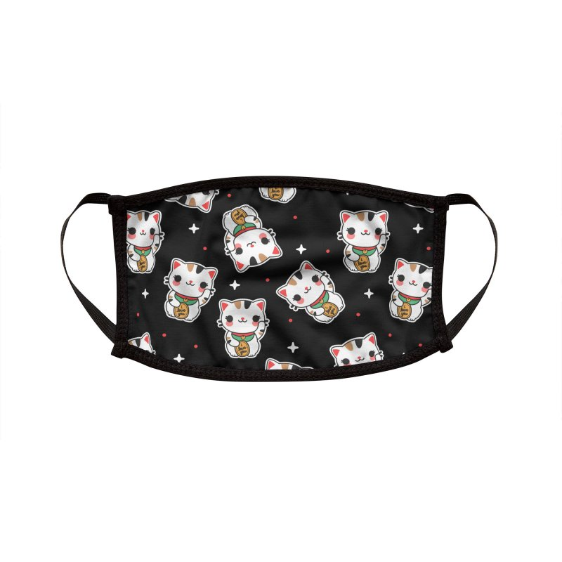 Lucky Cat Accessories Face Mask by Em & Sprout