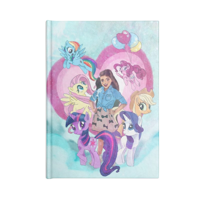 My Little Pony Accessories Lined Journal Notebook by Eii's Artist Shop
