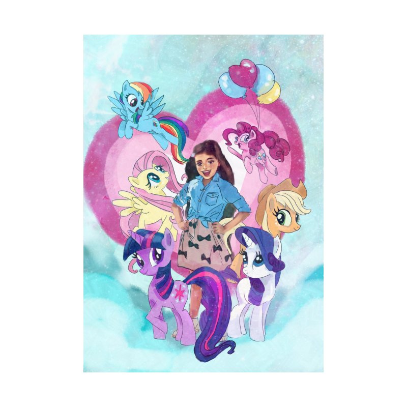 My Little Pony Home Stretched Canvas by Eii's Artist Shop