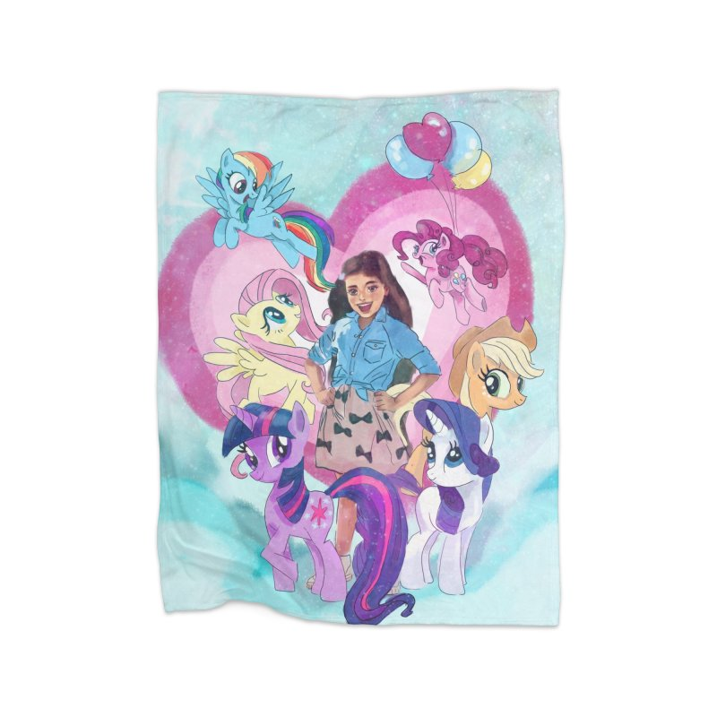 My Little Pony Home Fleece Blanket Blanket by Eii's Artist Shop