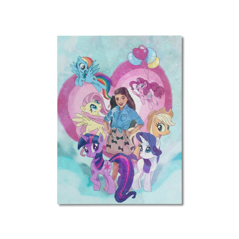 My Little Pony Home Mounted Aluminum Print by Eii's Artist Shop