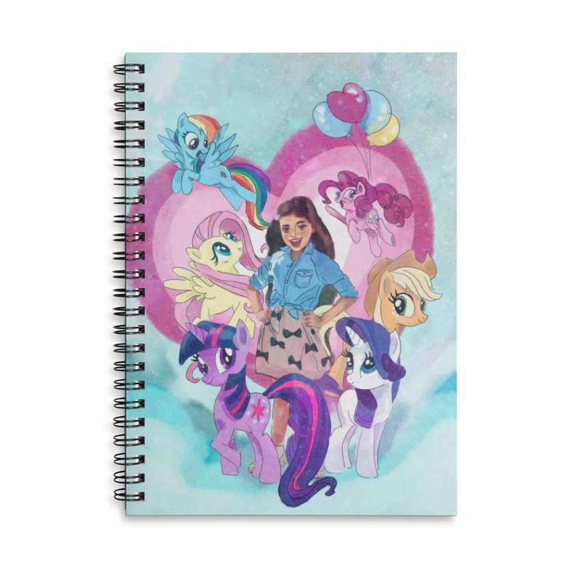 My Little Pony Accessories Lined Spiral Notebook by Eii's Artist Shop