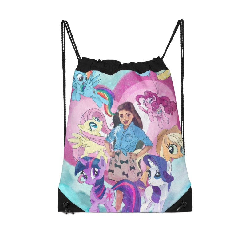 My Little Pony Accessories Drawstring Bag Bag by Eii's Artist Shop