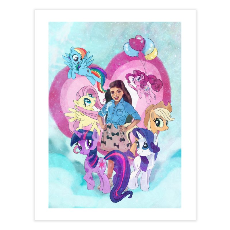 My Little Pony Home Fine Art Print by Eii's Artist Shop