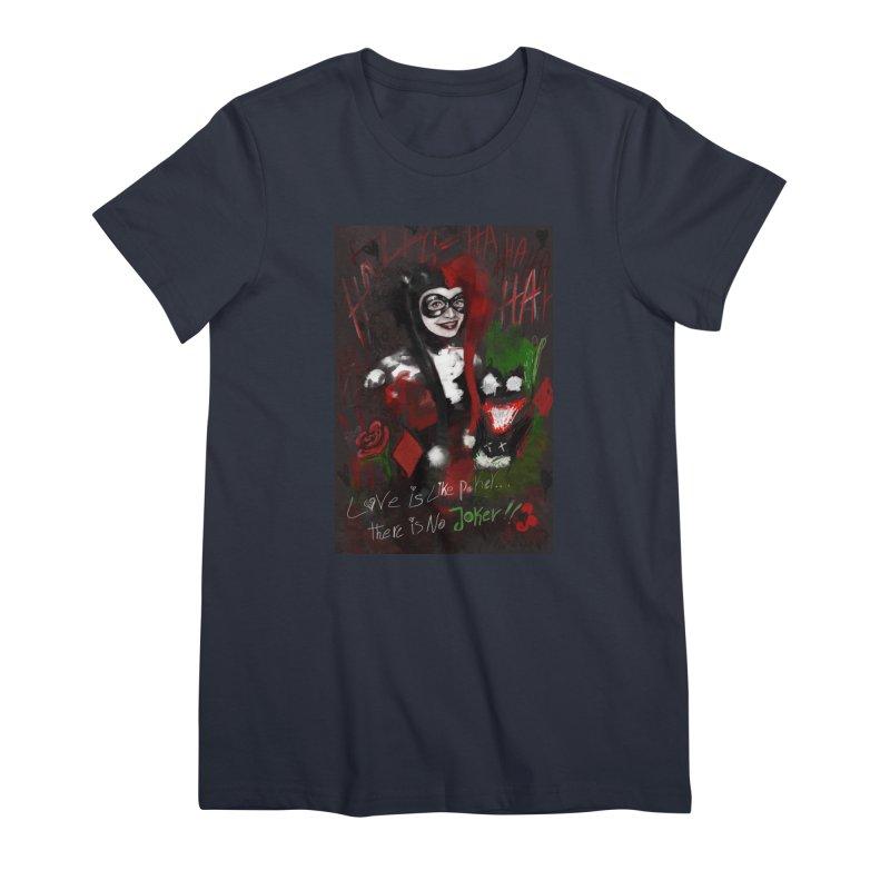 Harly quinn Women's Premium T-Shirt by Eii's Artist Shop