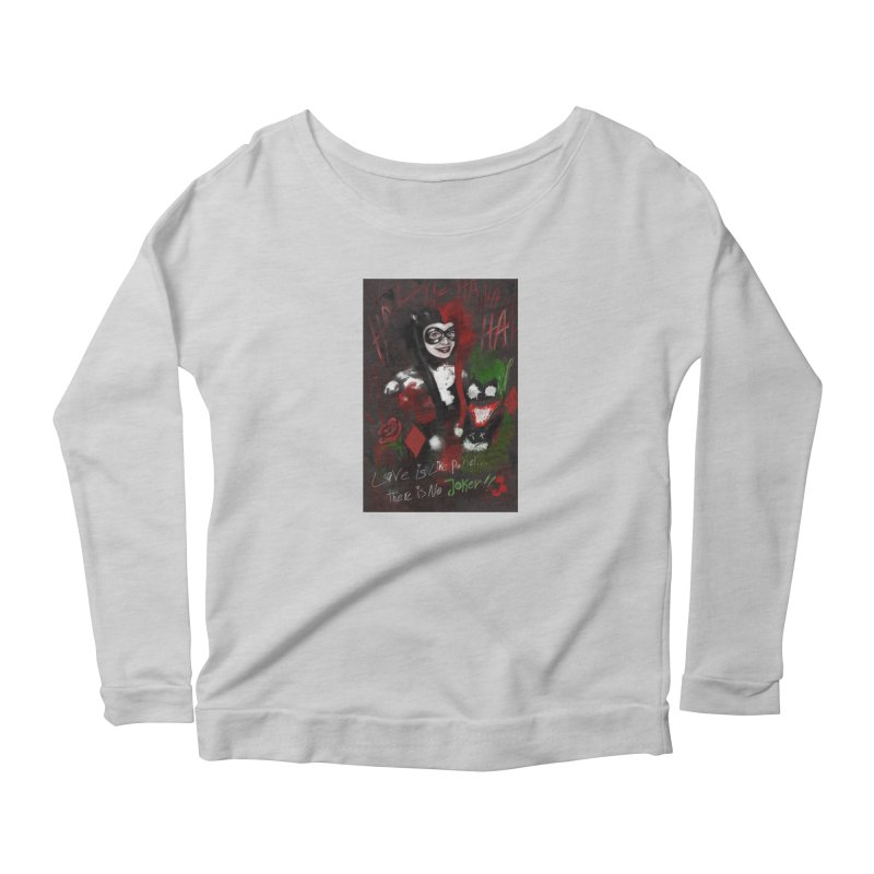 Harly quinn Women's Scoop Neck Longsleeve T-Shirt by Eii's Artist Shop