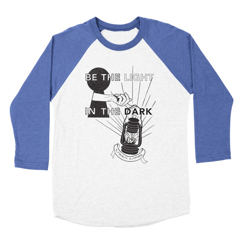 """Be the light in the dark"" Men's Baseball Triblend Longsleeve T-Shirt by The Embien Empire"