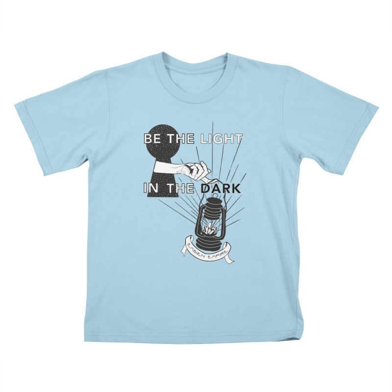 """""""Be the light in the dark"""" Kids T-Shirt by The Embien Empire"""