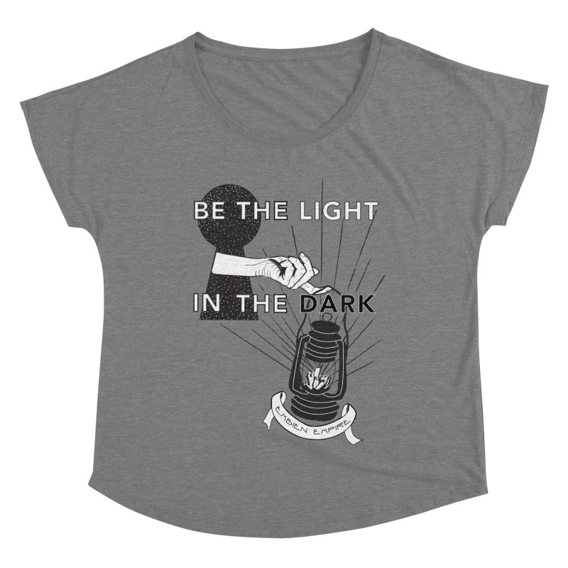 """""""Be the light in the dark"""" Women's Scoop Neck by The Embien Empire"""