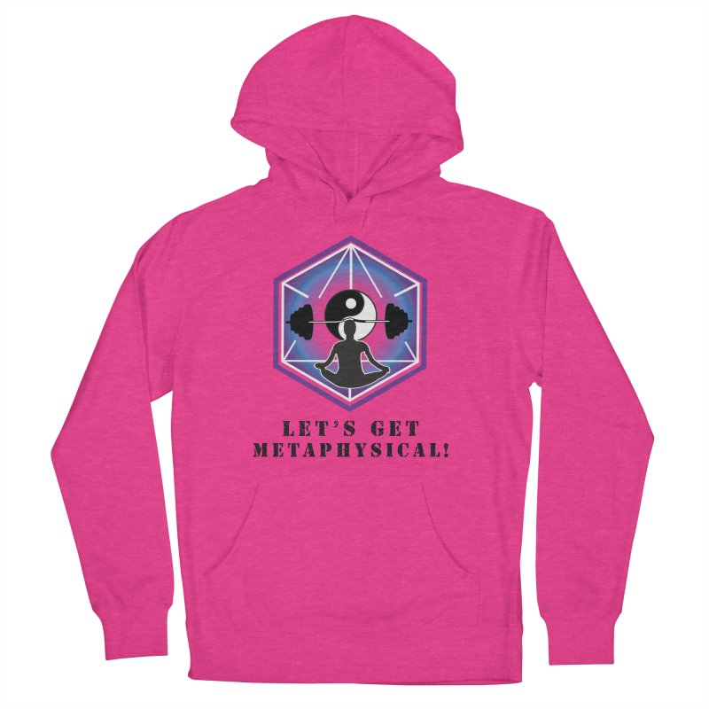 """Let's Get Metaphysical"" in Men's French Terry Pullover Hoody Heather Heliconia by The Embien Empire"
