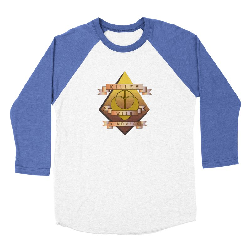 """""""Killem' With Kindness""""  Men's Baseball Triblend Longsleeve T-Shirt by The Embien Empire"""