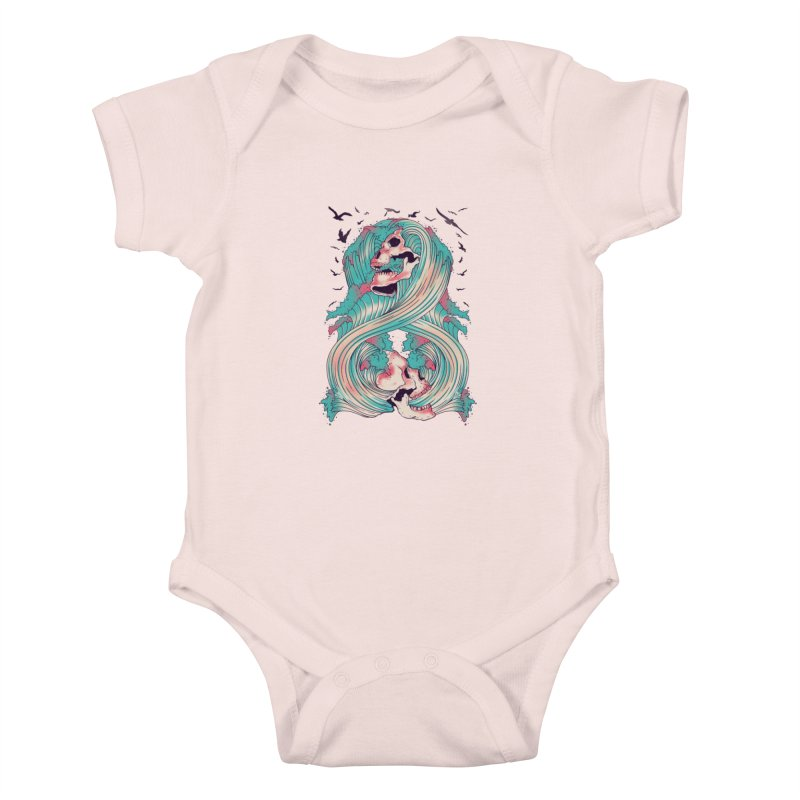 Spirit of the Waves Kids Baby Bodysuit by Emerson Rauth