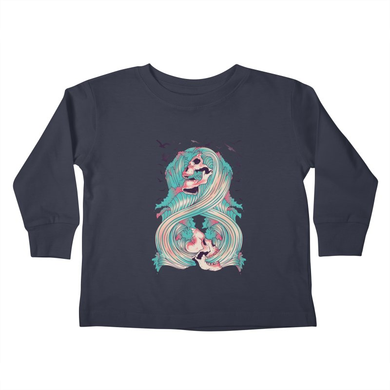 Spirit of the Waves Kids Toddler Longsleeve T-Shirt by Emerson Rauth