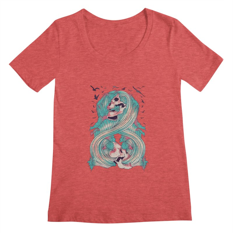 Spirit of the Waves Women's Scoopneck by Emerson Rauth