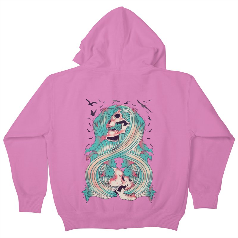 Spirit of the Waves Kids Zip-Up Hoody by Emerson Rauth