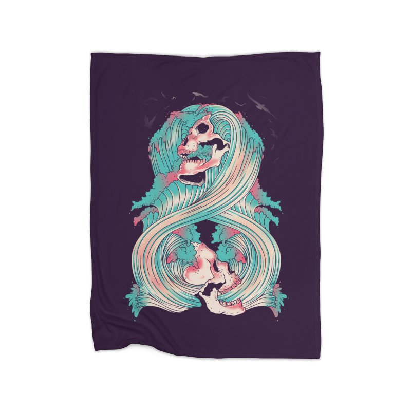 Spirit of the Waves Home Blanket by Emerson Rauth
