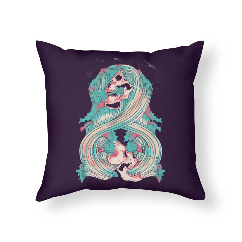 Spirit of the Waves Home Throw Pillow by Emerson Rauth