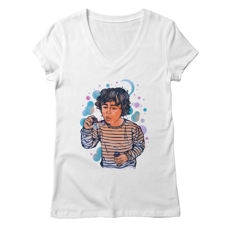 """soap bubble"" Women's V-Neck by Emerson Rauth"