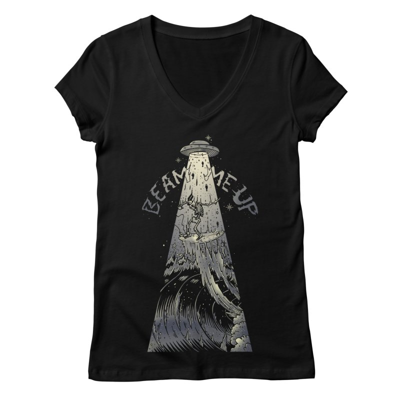 """Beam me up"" Women's V-Neck by Emerson Rauth"