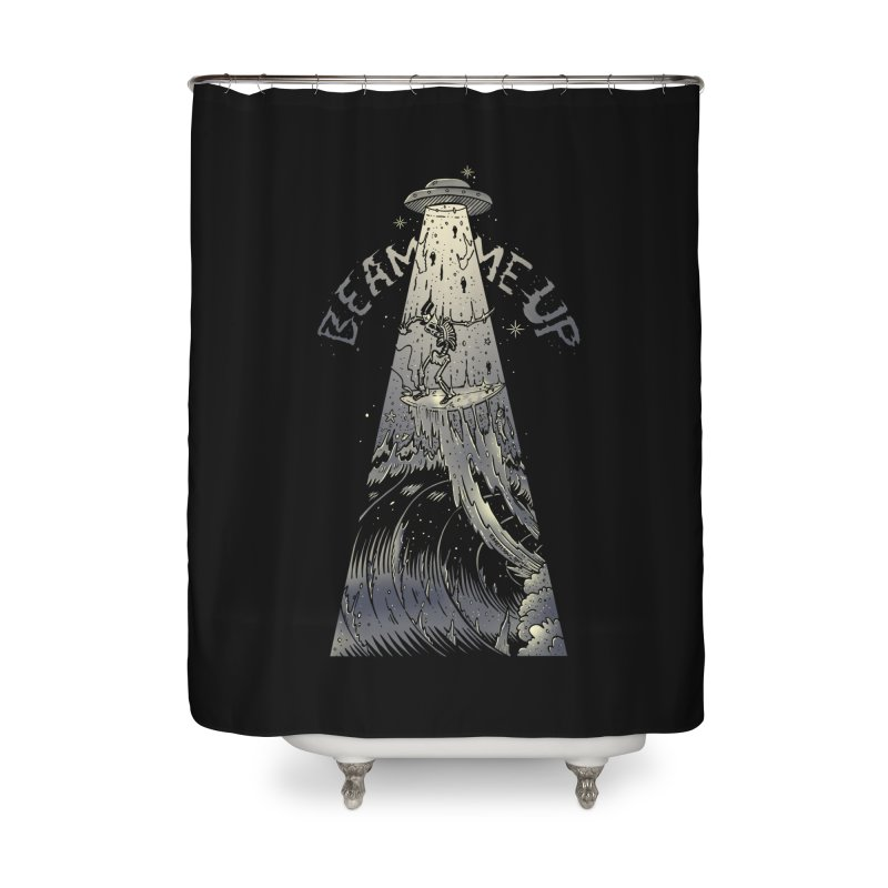 """Beam me up"" Home Shower Curtain by Emerson Rauth"
