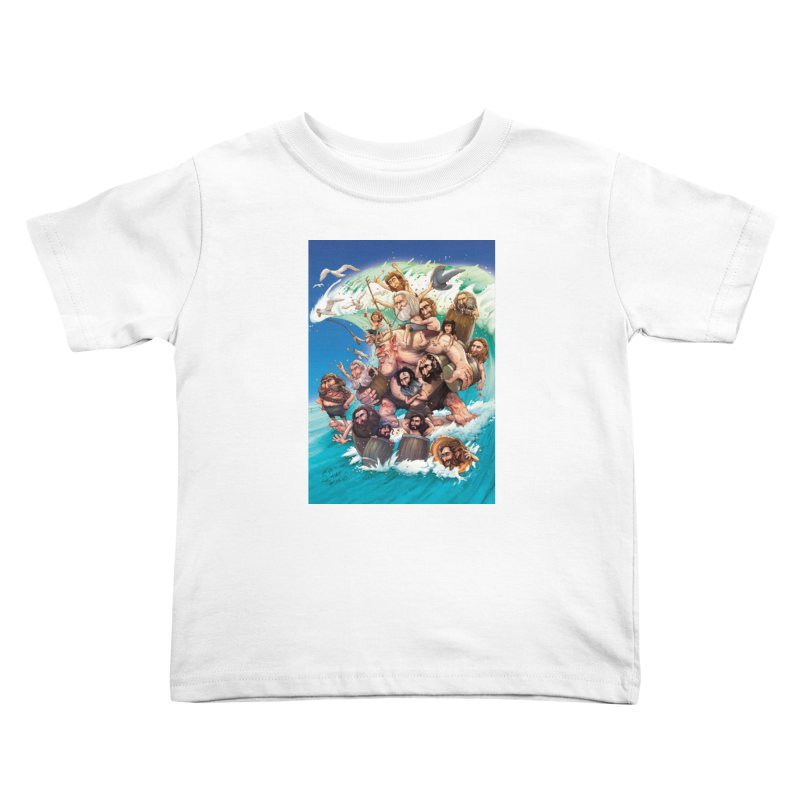 Hobbit Wave Kids Toddler T-Shirt by Emerson Rauth