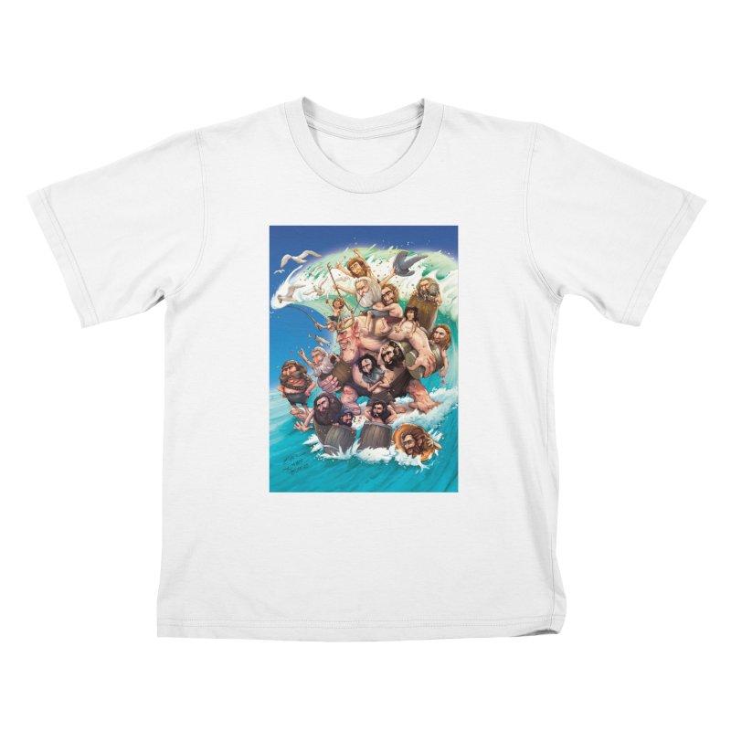 Hobbit Wave Kids T-Shirt by Emerson Rauth
