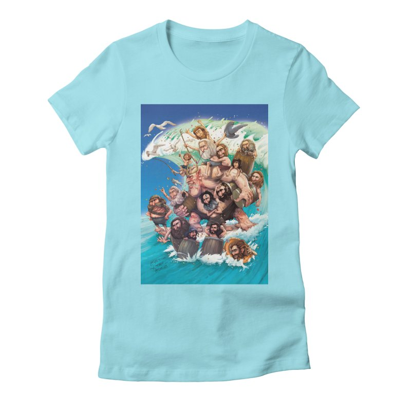 Hobbit Wave Women's Fitted T-Shirt by Emerson Rauth