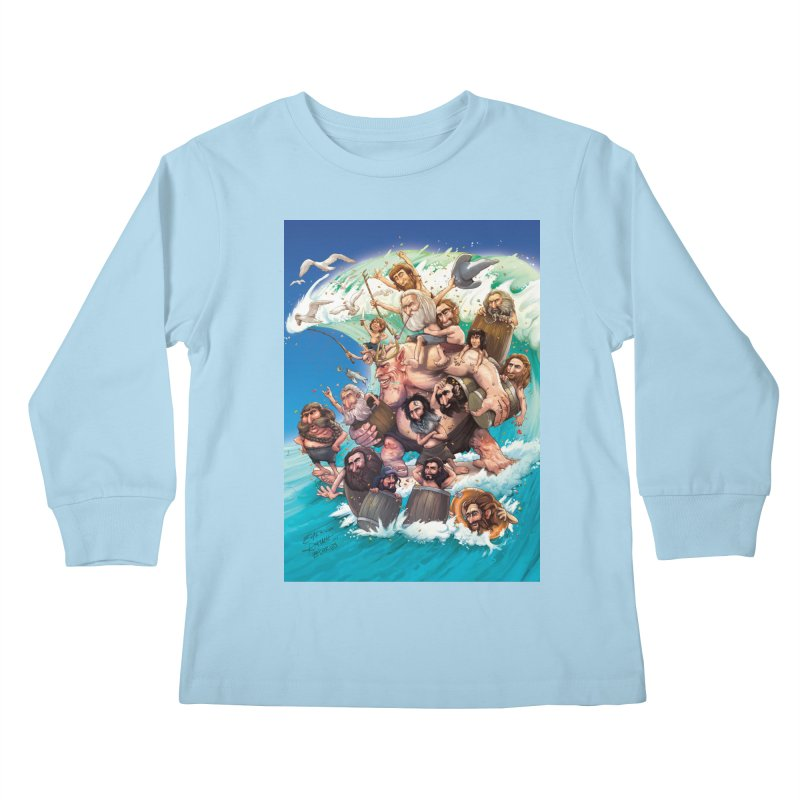 Hobbit Wave Kids Longsleeve T-Shirt by Emerson Rauth