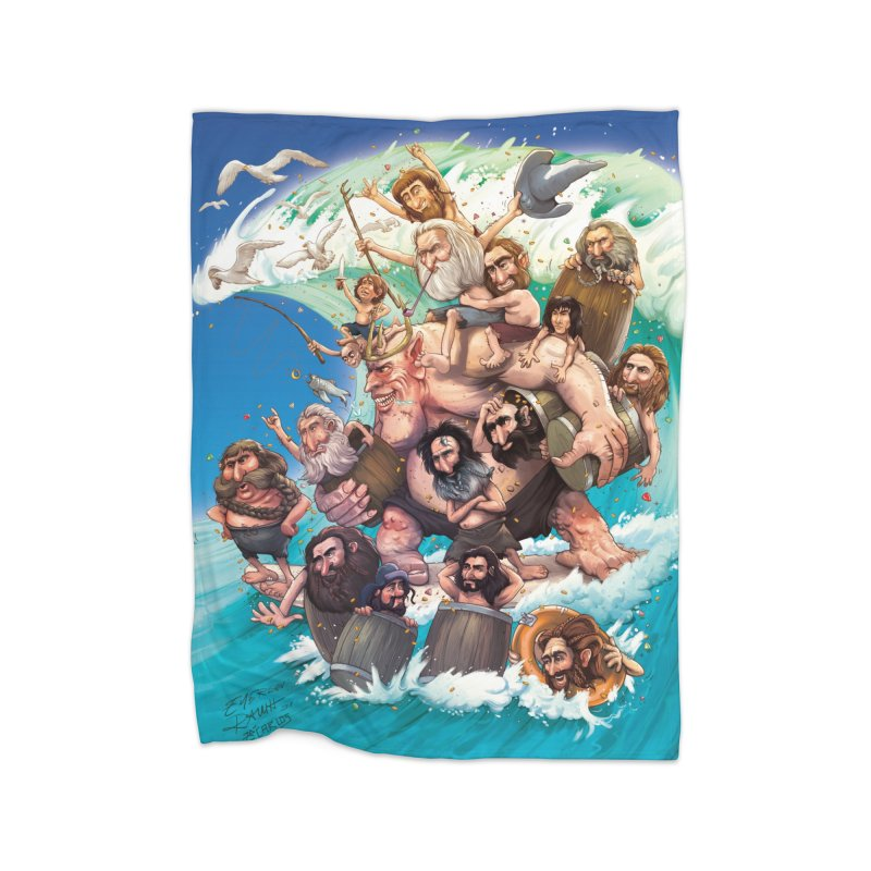 Hobbit Wave Home Blanket by Emerson Rauth