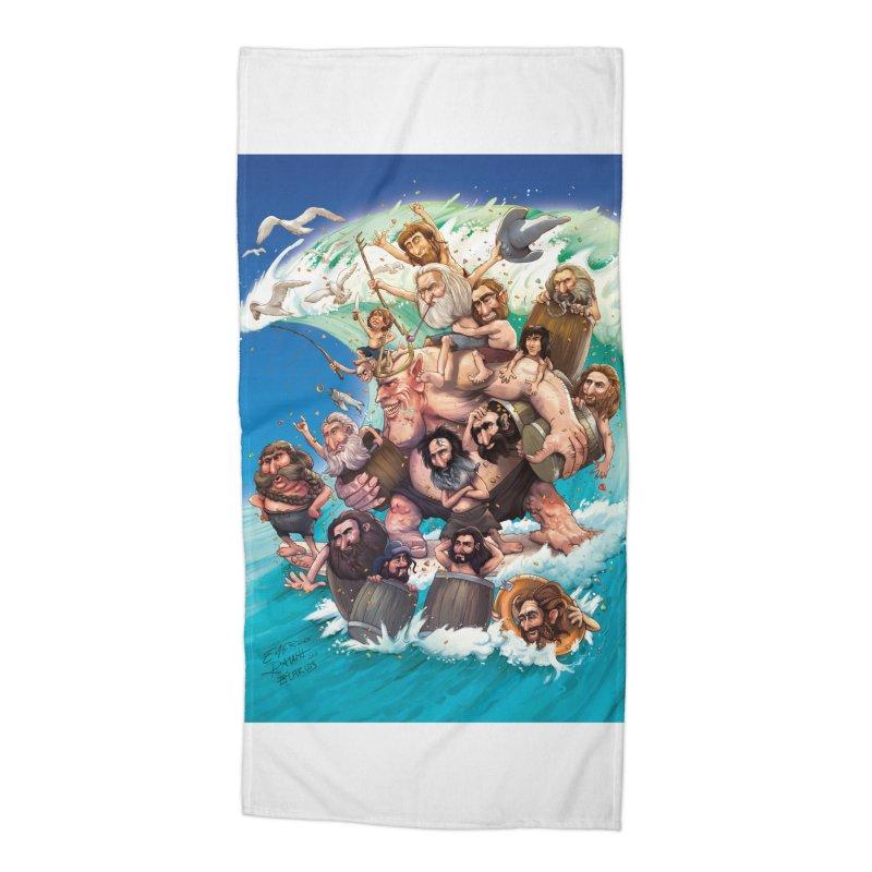 Hobbit Wave Accessories Beach Towel by Emerson Rauth