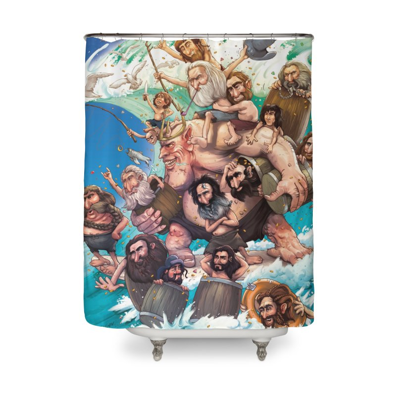 Hobbit Wave Home Shower Curtain by Emerson Rauth