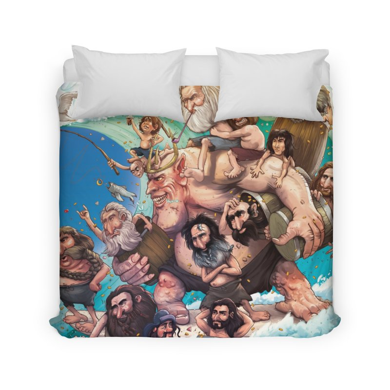 Hobbit Wave Home Duvet by Emerson Rauth