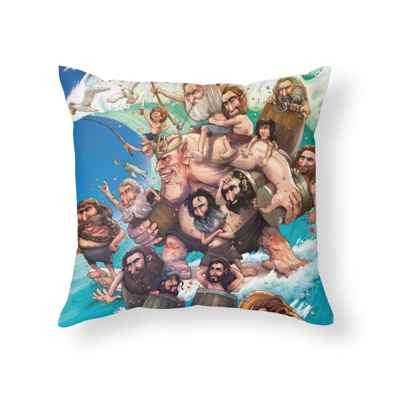 Hobbit Wave Home Throw Pillow by Emerson Rauth