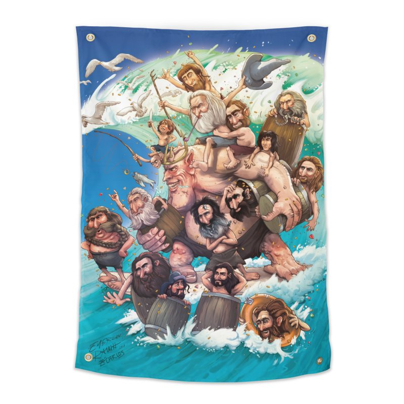 Hobbit Wave Home Tapestry by Emerson Rauth