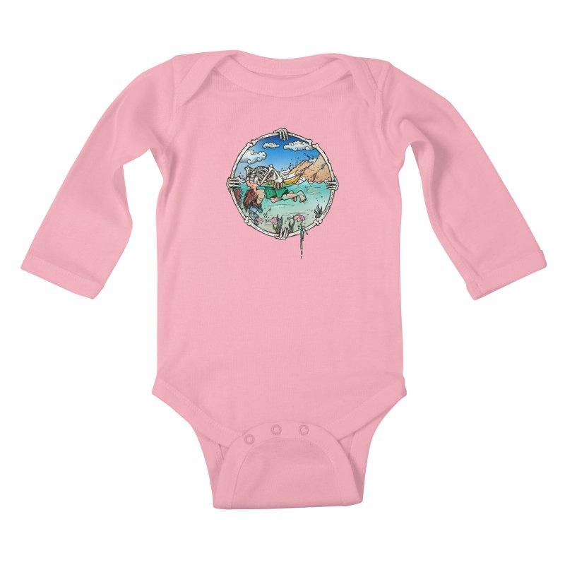 Vida no Mar Kids Baby Longsleeve Bodysuit by Emerson Rauth