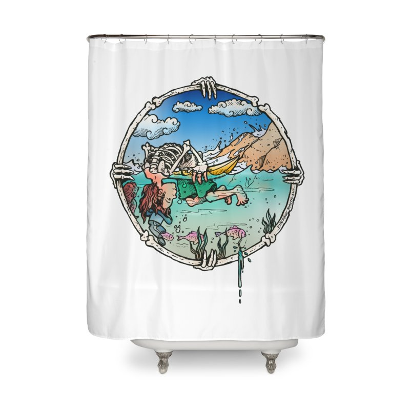 Vida no Mar Home Shower Curtain by Emerson Rauth
