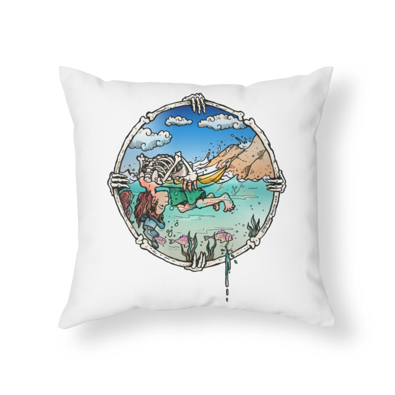 Vida no Mar Home Throw Pillow by Emerson Rauth