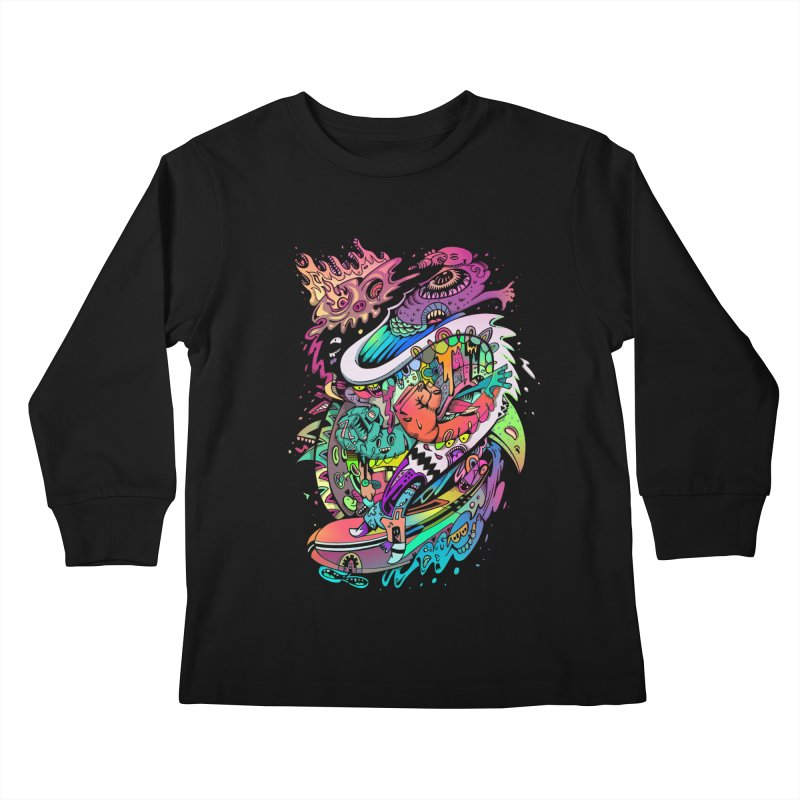 Doodles - 2007 N 10 Kids Longsleeve T-Shirt by Emerson Rauth