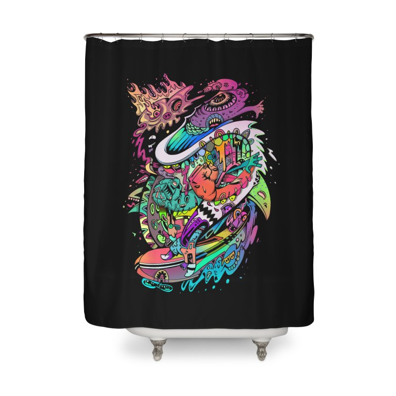 Doodles - 2007 N 10 Home Shower Curtain by Emerson Rauth